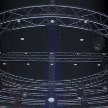 TV Studio Stage Truss and Lights - Extended License image 4