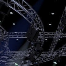 TV Studio Stage Truss and Lights - Extended License image 5
