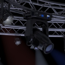 TV Studio Stage Truss and Lights - Extended License image 6