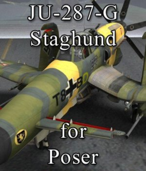 Ju-287-G/1 Staghund for Poser 3D Models VanishingPoint