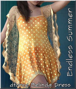 Endless Summer- dforce Belinda Dress 3D Figure Assets LUNA3D