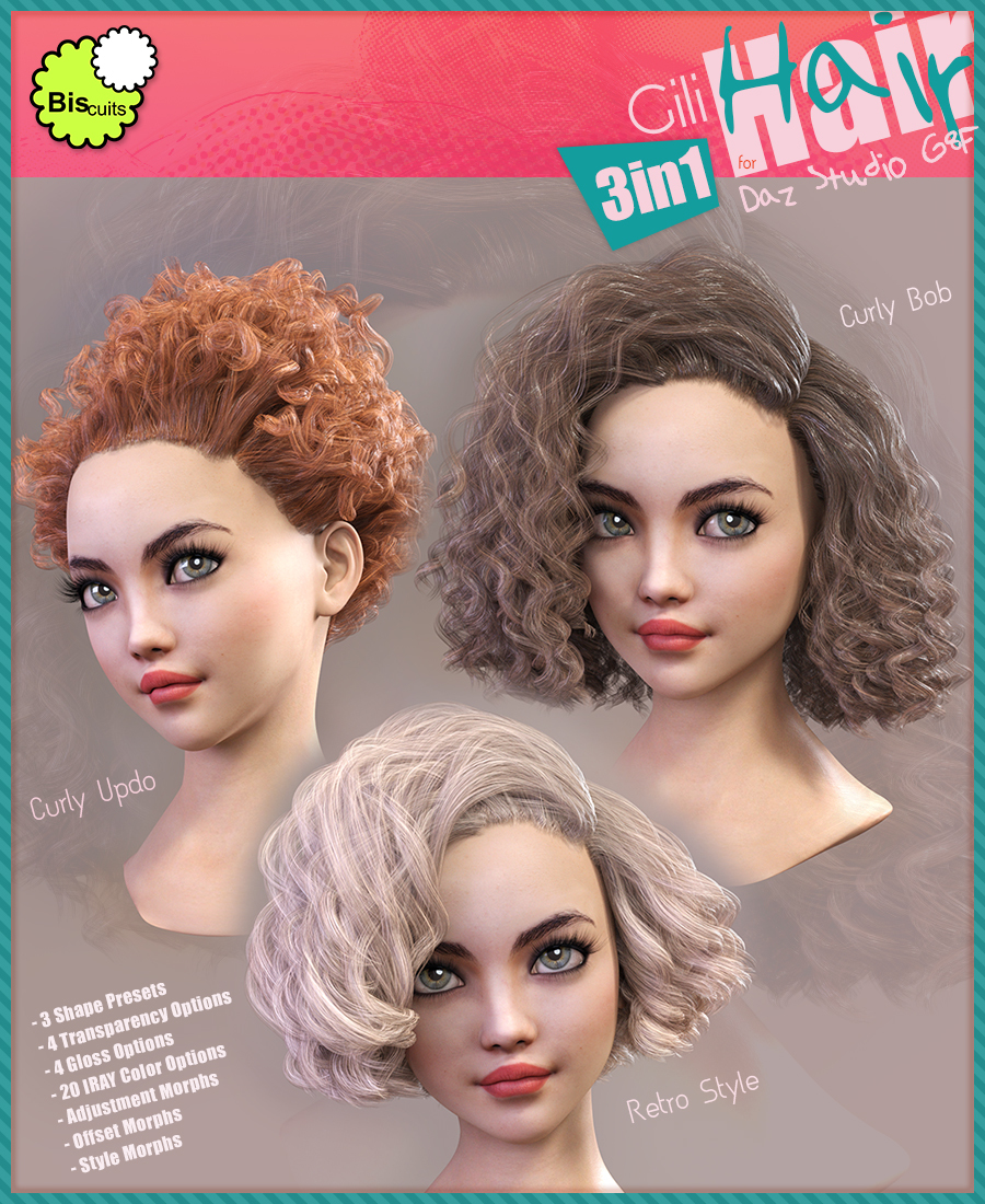 Biscuits Gili Hair 3in1 for G8F by Biscuits