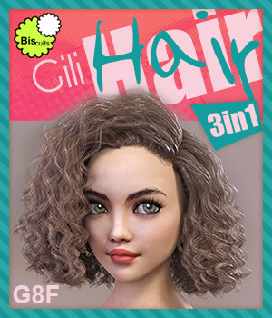 Biscuits Gili Hair 3in1 for G8F 3D Figure Assets Biscuits