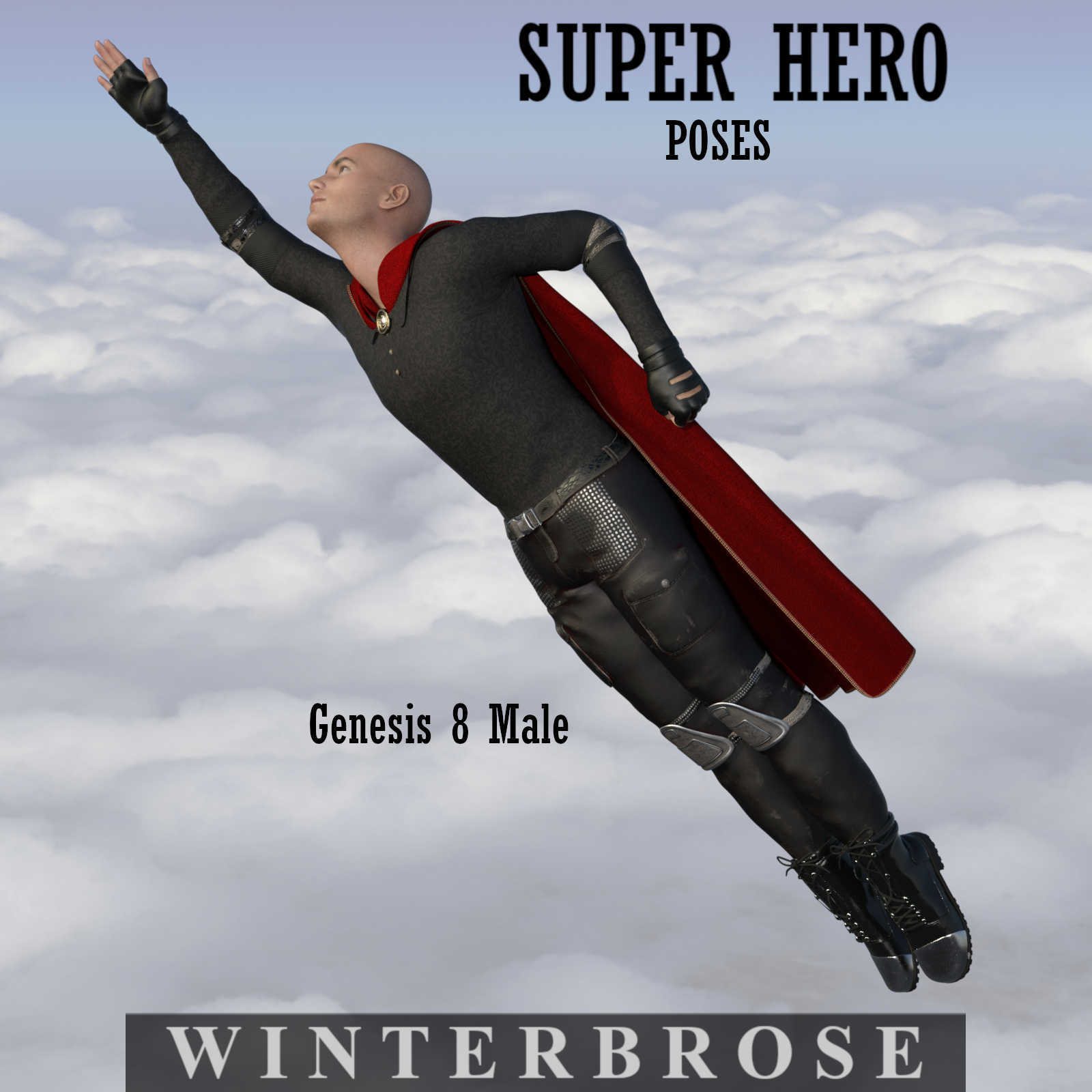 SUPER HERO Poses for Genesis 8 Male Figure