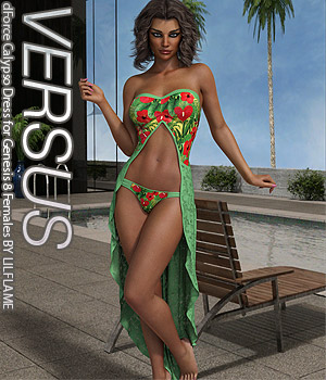 VERSUS - dForce Calypso Dress for Genesis 8 Females 3D Figure Assets Anagord
