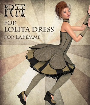 RA for Lolita Dress 3D Figure Assets La Femme Pro - Female Poser Figure RAGraphicDesign
