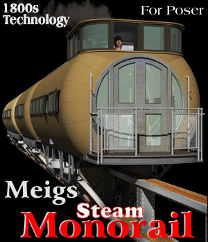 Meigs Steam Monorail 3D Models Michael_C