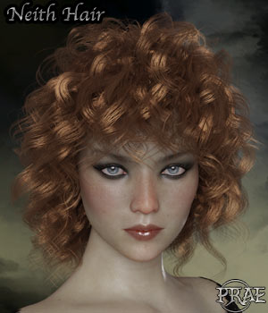 Prae-Neith Hair For G3 G8 Daz 3D Figure Assets prae