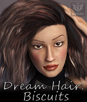 Dream Hair Biscuits 3D Figure Assets Dream9Studios