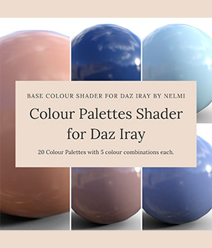 Colour Palettes Shader for Daz Studio 3D Figure Assets Merchant Resources nelmi