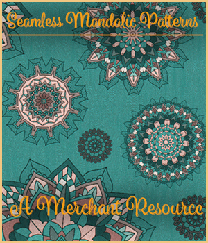 Seamless Mandalic Patterns 2D Graphics Merchant Resources adarling97