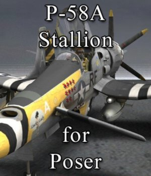 P-58 Stallion for Poser 3D Models VanishingPoint