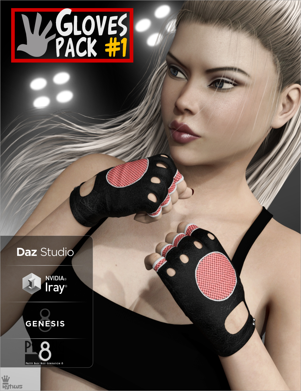 Gloves Pack 1 for Genesis 8 Females
