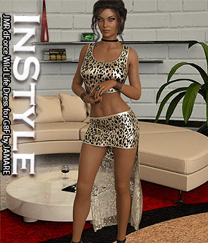InStyle - JMR dForce Wild Life Dress for G8F 3D Figure Assets -Valkyrie-