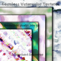 Seamless Watercolor Textures image 1