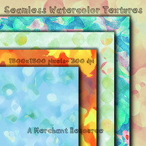 Seamless Watercolor Textures image 2