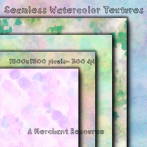 Seamless Watercolor Textures image 9