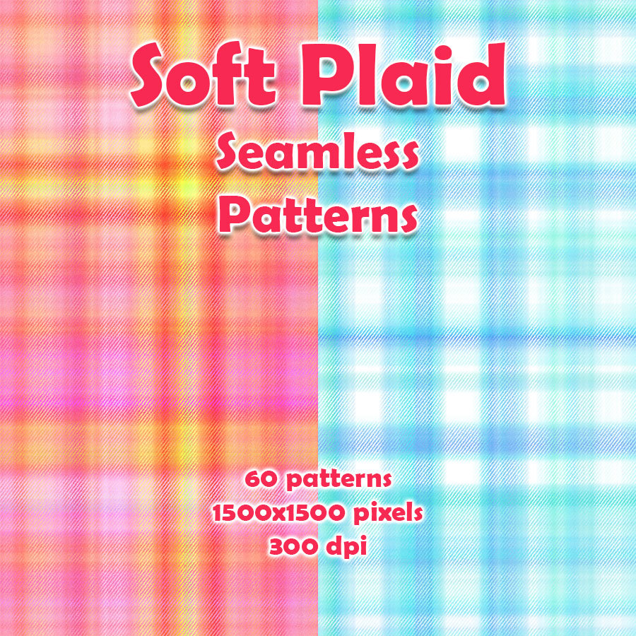 Seamless Soft Plaid Patterns by adarling97