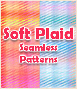 Seamless Soft Plaid Patterns 2D Graphics Merchant Resources adarling97