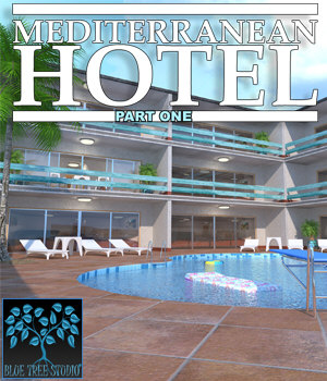 Mediterranean Hotel Part One for Poser 3D Models BlueTreeStudio