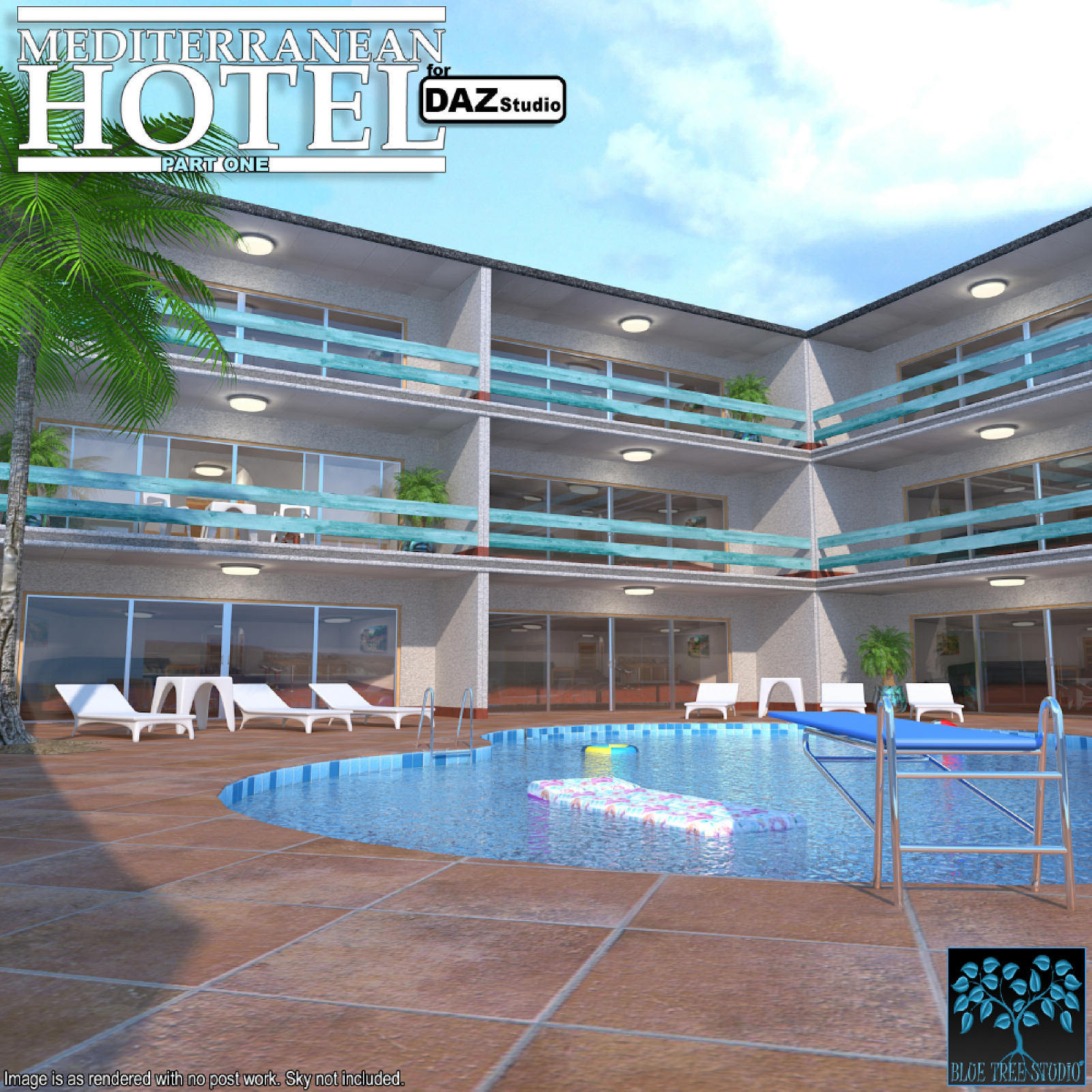 Mediterranean Hotel Part One for Daz Studio