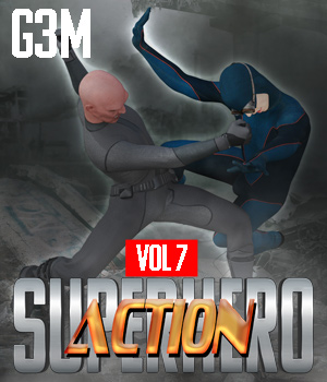SuperHero Action for G3M Volume 7 3D Figure Assets GriffinFX
