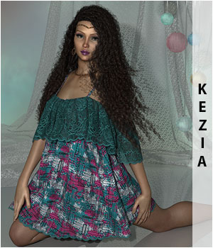 Kezia for Gypsy Dress 3D Figure Assets sandra_bonello