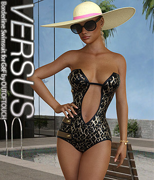 VERSUS - Borderline Swimsuit for G8F 3D Figure Assets Anagord