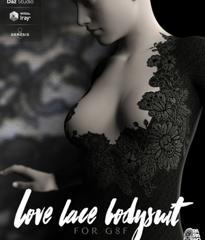 Lace Love Bodysuit For Genesis 8 Female 3D Figure Assets pamawo