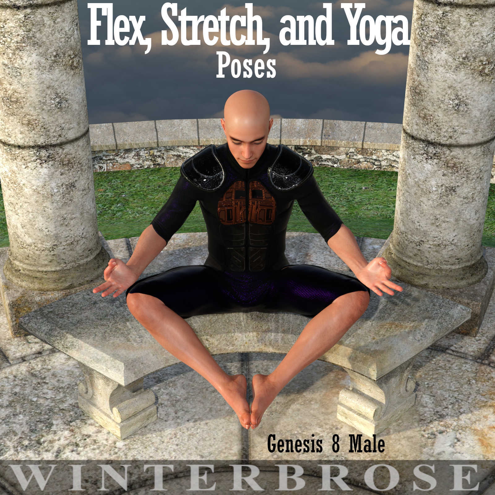 FLEX, STRETCH and YOGA Poses for Genesis 8 Male (G8M)
