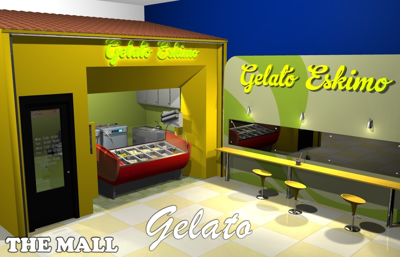 The Mall - Gelato - Extended License