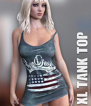 dForce XL Tank Top for Genesis 8 Females 3D Figure Assets lilflame