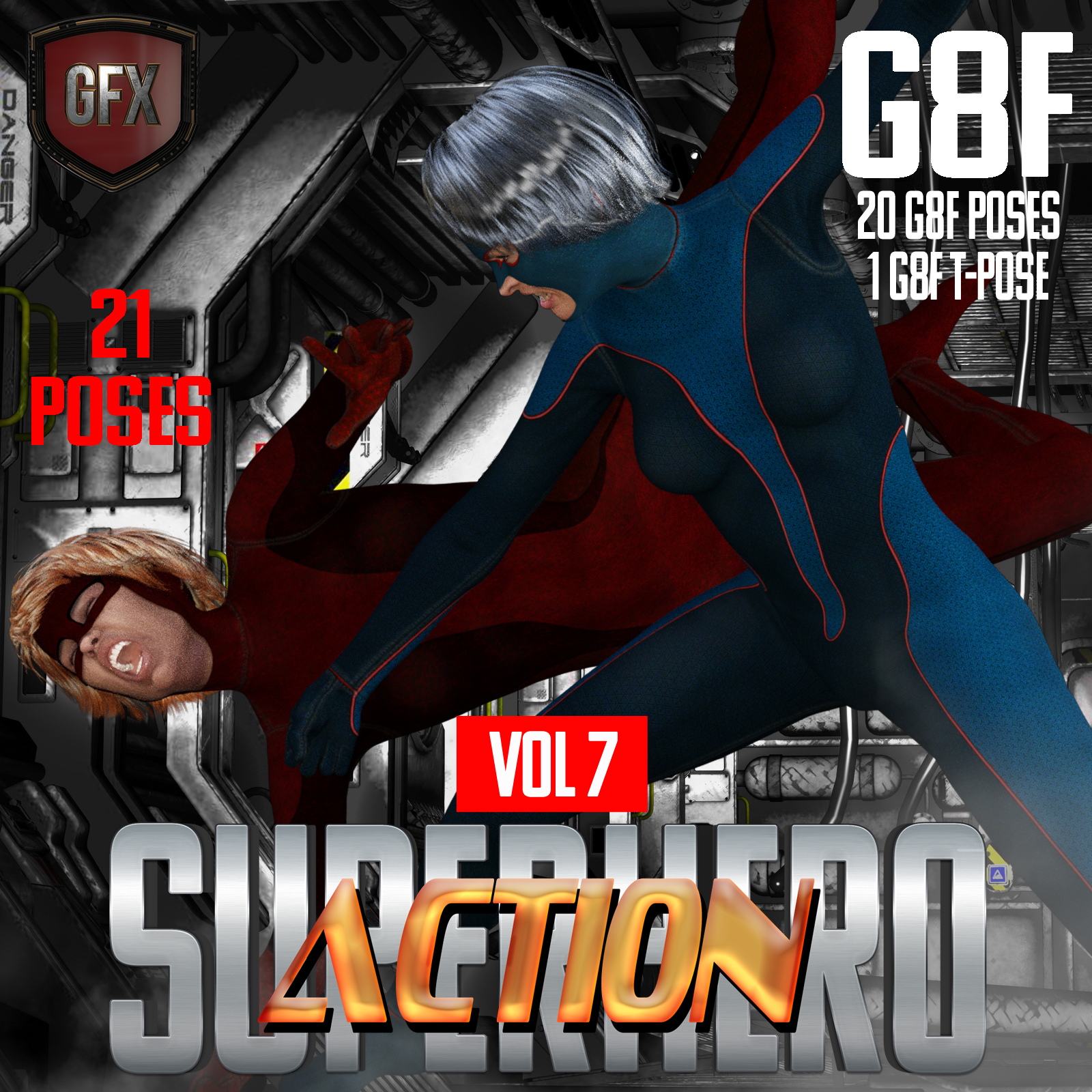 SuperHero Action for G8F Volume 7