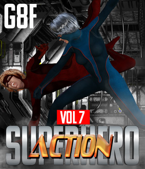 SuperHero Action for G8F Volume 7 3D Figure Assets GriffinFX