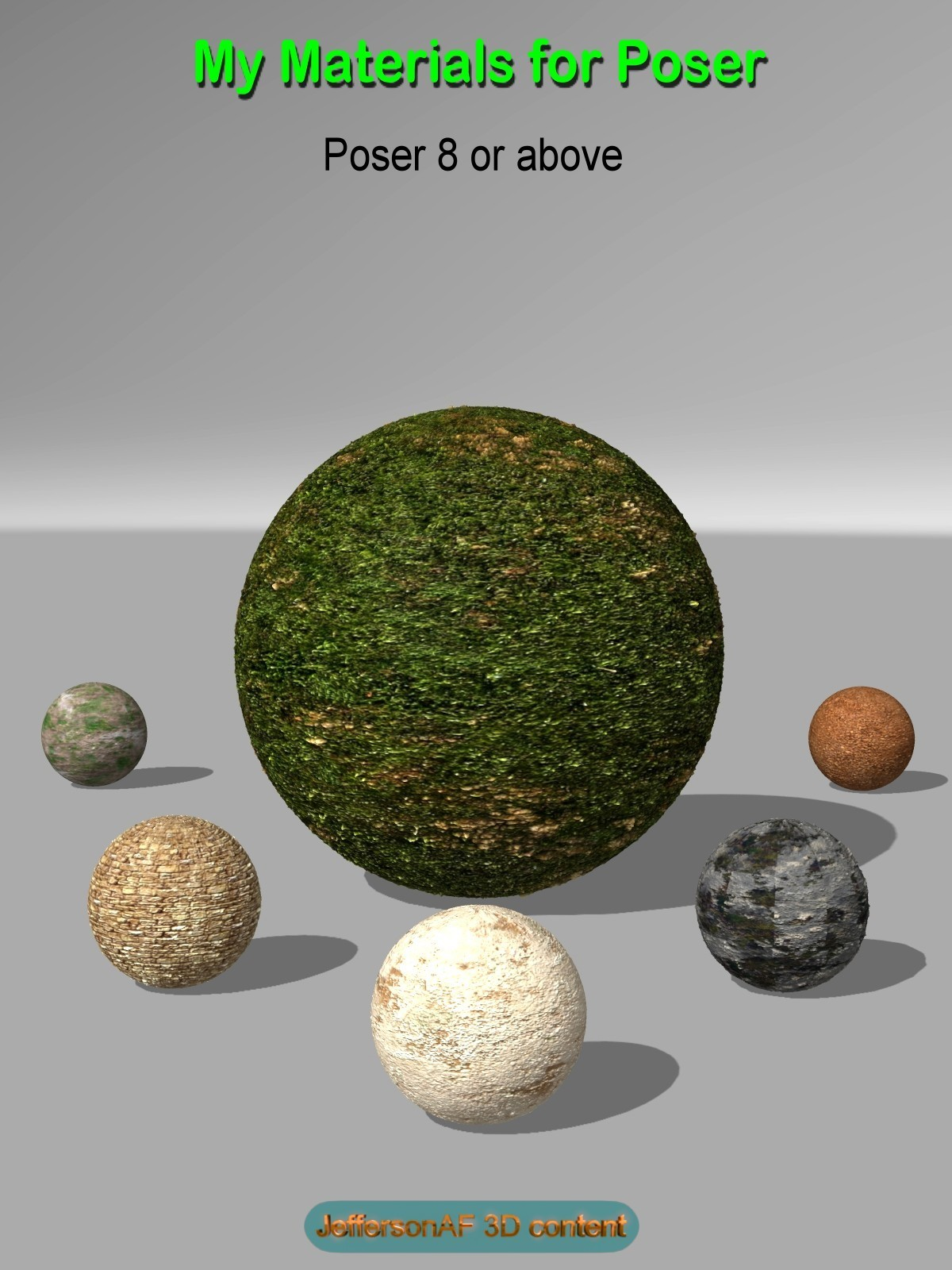 My Materials for Poser