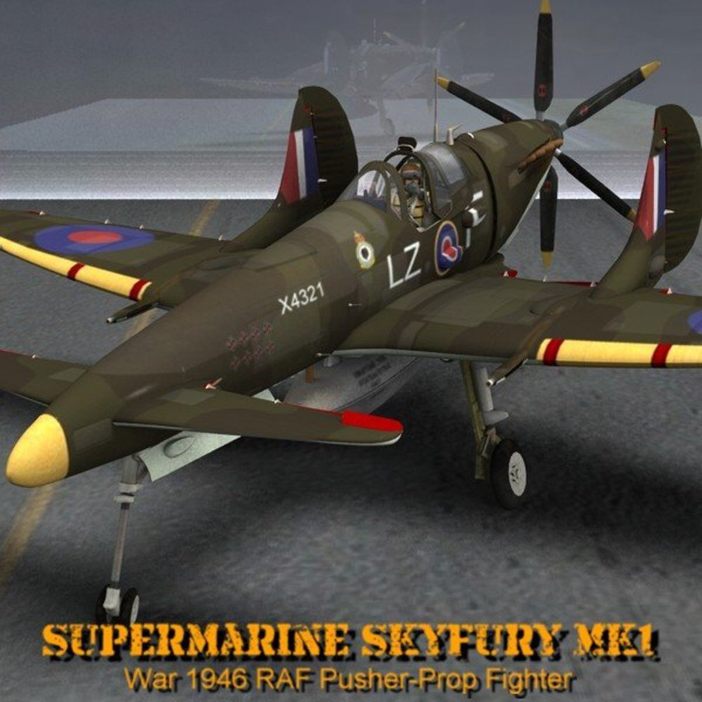 Supermarine SkyFury Mk1 for Poser