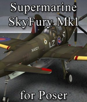 Supermarine SkyFury Mk1 for Poser 3D Models VanishingPoint