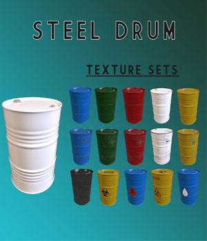 Prop - Steel Drum 3D Models latexllama