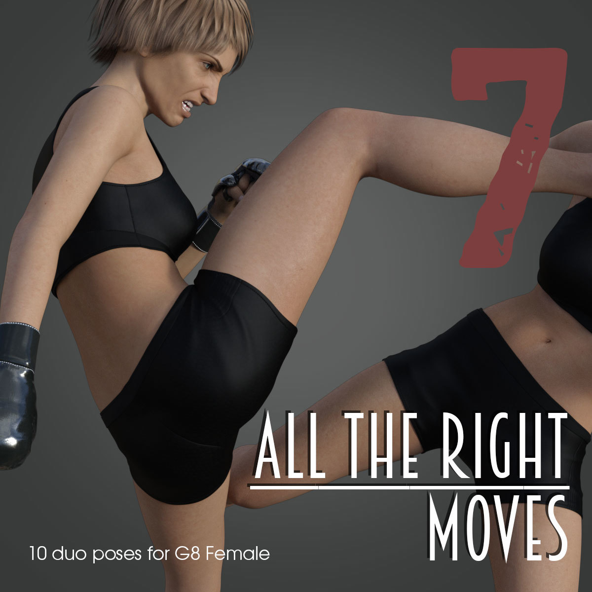 ALL THE RIGHT MOVES vol.7 for Genesis 8 Female by PainMD