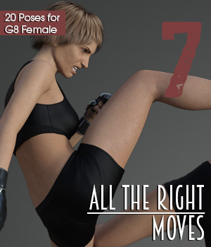 ALL THE RIGHT MOVES vol.7 for Genesis 8 Female 3D Figure Assets PainMD