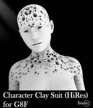 Character Clay for G8F 3D Figure Assets biala