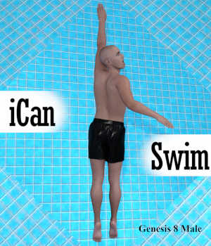 iCan SWIM Swimming Poses for Genesis 8 Male 3D Figure Assets Winterbrose