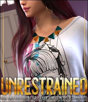 Unrestrained for dForce Relaxed for Genesis 8 Females 3D Figure Assets ShanasSoulmate