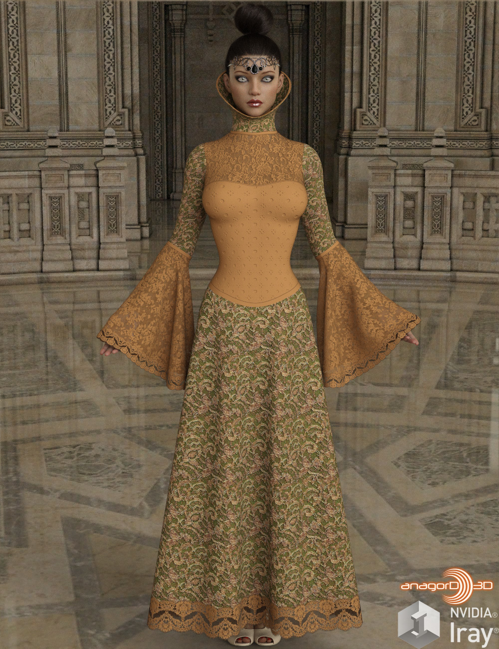 VERSUS - dForce High Fantasy Dress for Genesis 8 Female(s)