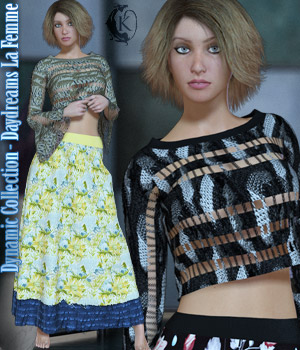 Dynamic Collection - Daydreams - La Femme 3D Figure Assets La Femme Female Poser Figure kaleya
