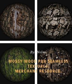 Mossy Wood PBR Textures - Merchant Resource 2D Graphics Merchant Resources nelmi