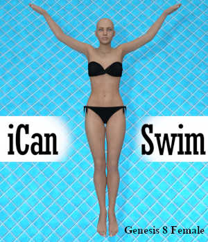 iCan SWIM, Swimming Poses for Genesis 8 Female (G8F) 3D Figure Assets Winterbrose