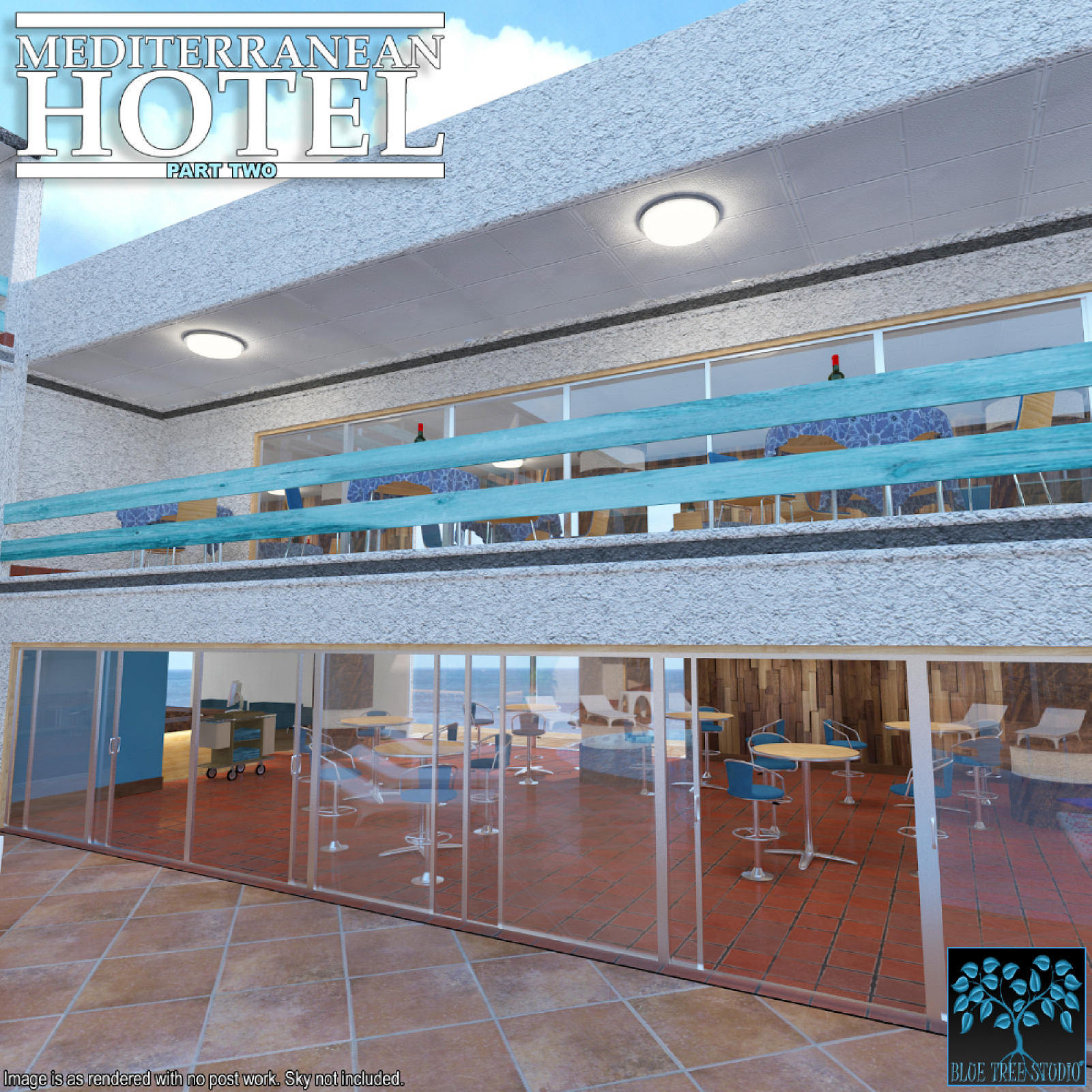 Mediterranean Hotel Part Two for Poser by BlueTreeStudio