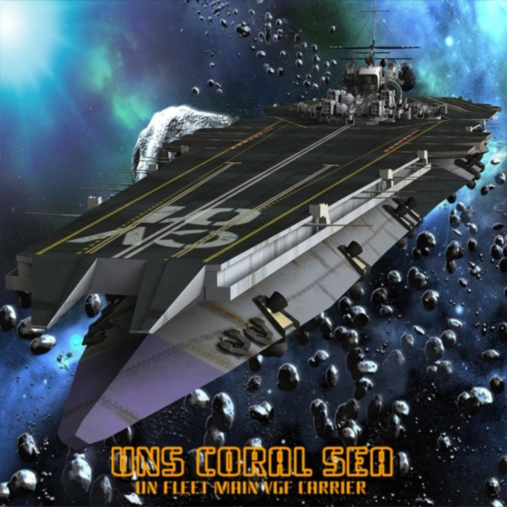 UNS Coral Sea Space Carrier for Poser