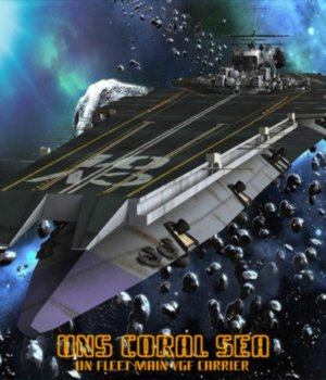 UNS Coral Sea Space Carrier for Poser 3D Models VanishingPoint